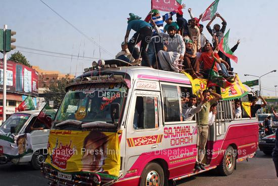 Supporters of Imran Khan