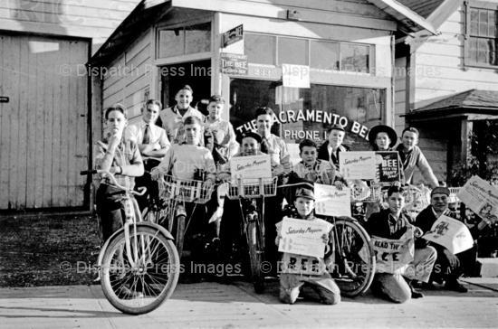 Sacramento Bee Newspaper Boys