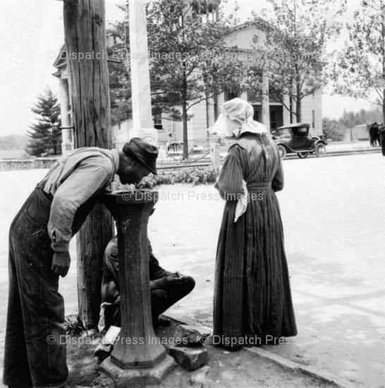 The Water Fountain at the Henderson County Courthouse