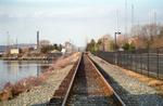 Railroad tracks along the Mystic Seaport