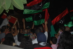 Libyans Celebrate in Cairo 1