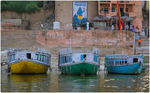 Colorful Boats on the Ganges
