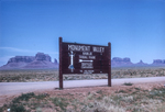 Monument Valley Tribal Sign